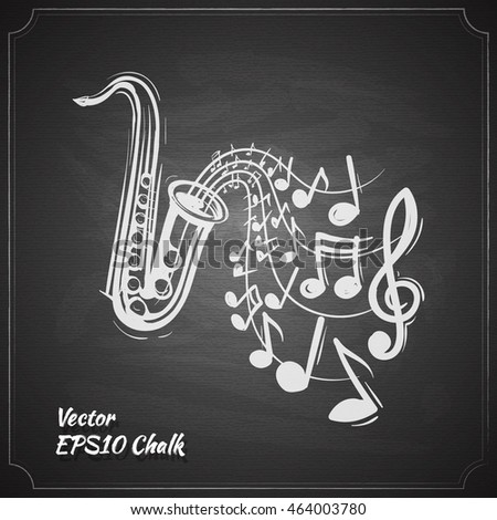 saxophone music concept sketch style vector illustration