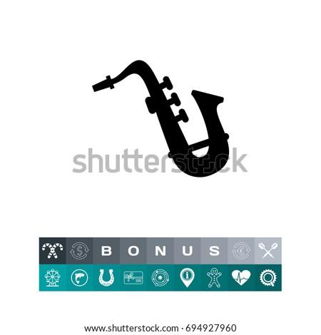Saxophone silhouette icon