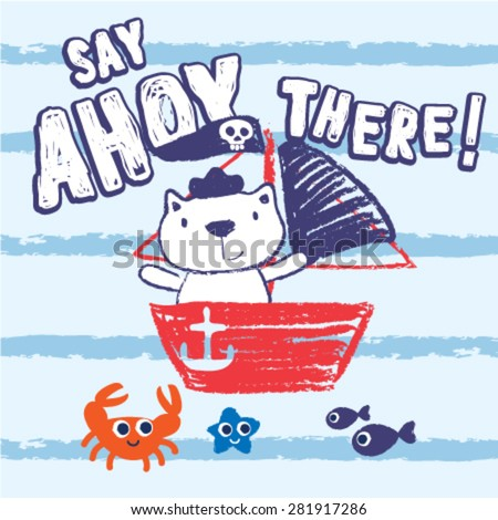 say ahoy there cute little cat