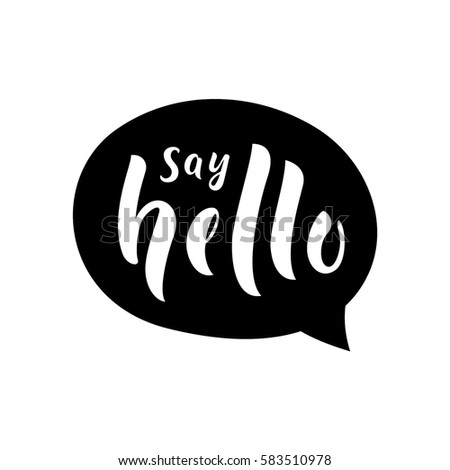 say hello message bubble