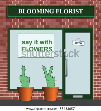 Say it with flowers florist with rude cacti