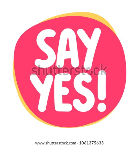 say yes  vector icon  badge
