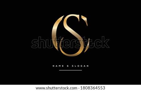 SC,CS,S,C Abstract Letters Logo Monogram Stock fotó ©