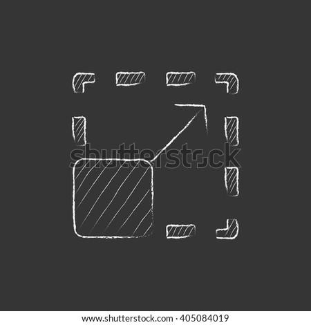 Scalability. Drawn in chalk icon.