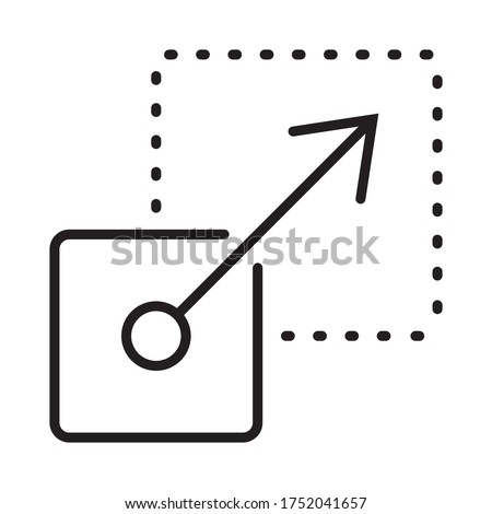 Scalability or scalable system line art vector icon for apps and websites Foto d'archivio ©