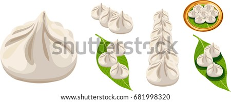 Scalable Vector illustration or artwork of Modak - a sweet dumpling food popular in India. Offered to Lord Ganesh on Ganesh Chaturthi