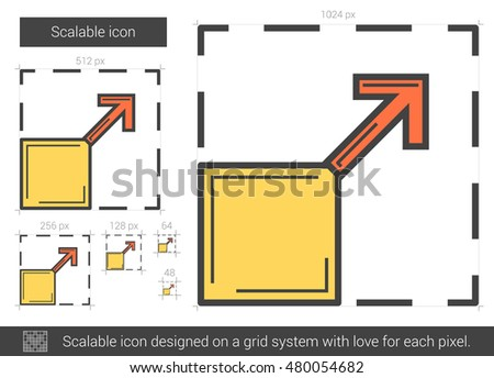Scalable vector line icon isolated on white background. Scalable line icon for infographic, website or app. Scalable icon designed on a grid system.