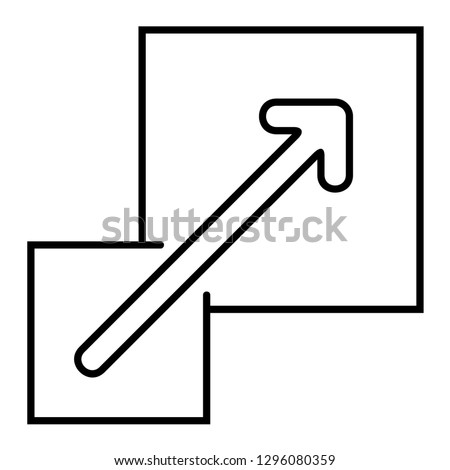 Scalable. Vector outline icon isolated on white background.