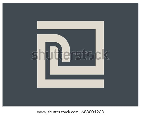 Scalable vector sign, containing hidden connected letters C, D, G, L, n, O, P, e. Isolated logo, for screen (web, mobile app, video, etc.) and print (corporate identity, advertising, etc.)