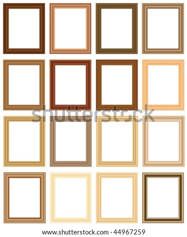 scalable vector wooden picture