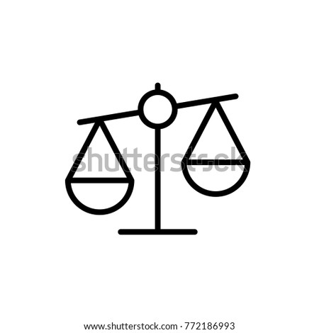 Scale icon, balance vector