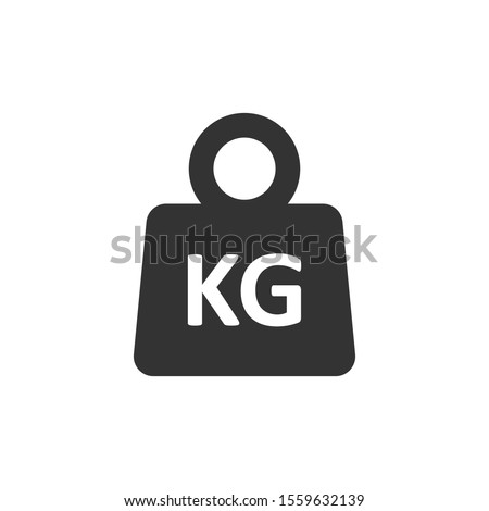 Scale icon in flat style. Kilogram dumbbell vector illustration on white isolated background. Gym business concept. Photo stock ©