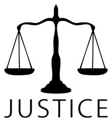 Scale icon of justice symbol, Black and white