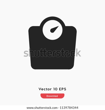 Scale icon vector, weight symbol. Linear style sign for mobile concept and web design. scale weight symbol logo illustration. vector graphics - Vector.