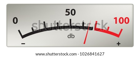 Scale of sound measurement in decibels, old style Stock photo ©