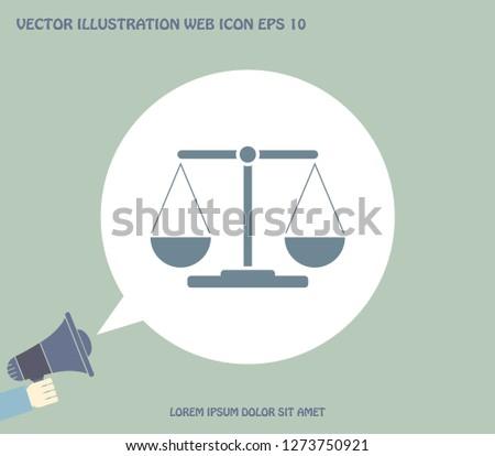 Scales balance icon