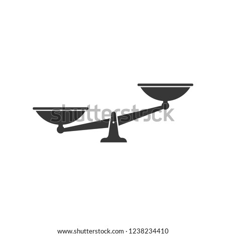Scales black icon. Vector scale simple illustration