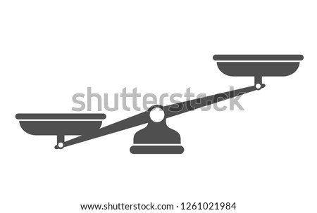 Scales, Flat design, Libra, vector illustration isolated on white background