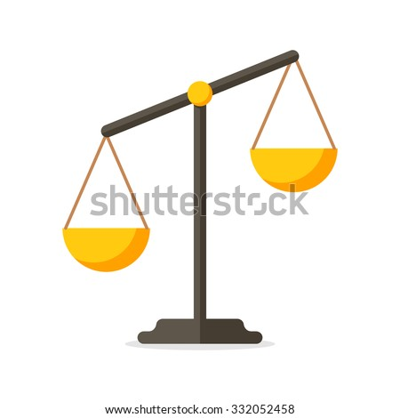 Scales, Flat design, vector illustration, isolated on white background