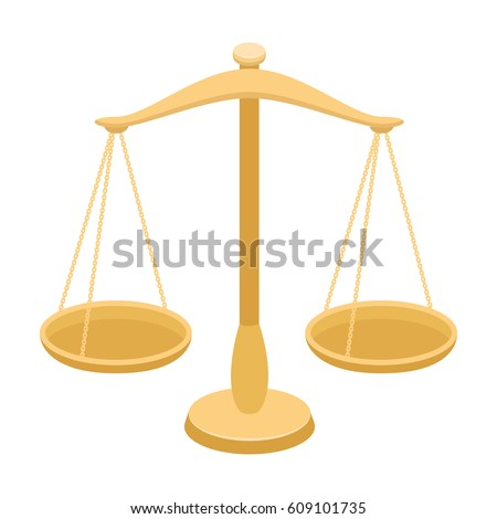 Scales for jewelry. Weights for measuring punishment.Prison single icon in cartoon style vector symbol stock illustration.