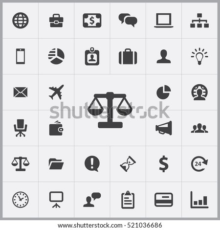 scales icon. Business icons universal set for web and mobile