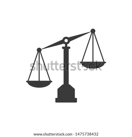 Scales icon template color editable.Scales symbol vector sign isolated on white background.