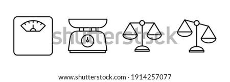 Scales icon vector. Law scale icon. Scales vector icon. Justice Сток-фото ©