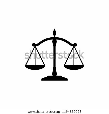 Scales Justice icon symbol vector