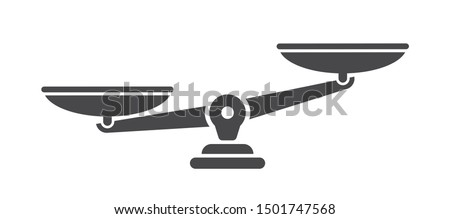 Scales. Libra icon. Flat style - stock vector.