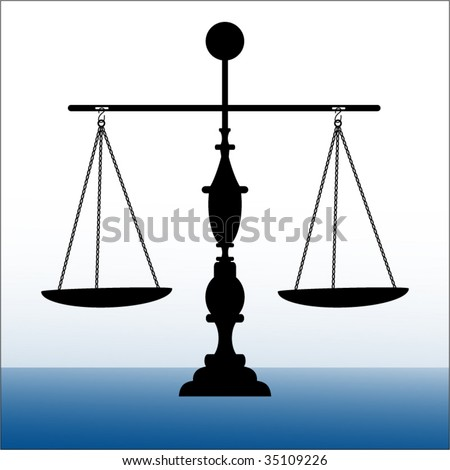 Scales of Justice balanced - stock vector