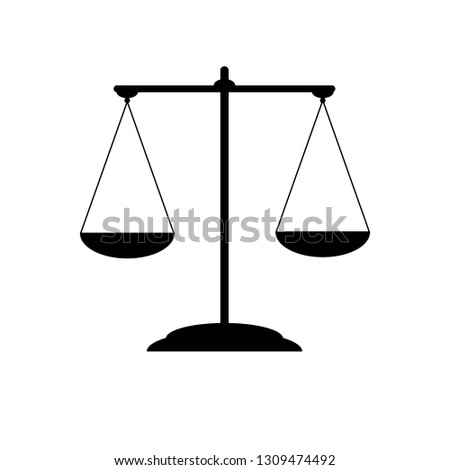 Scales of justice. Scales vector icon