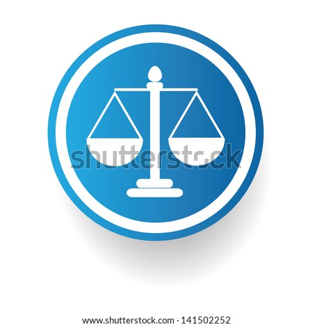 Scales of Justice sign,vector
