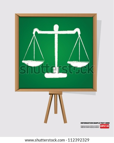 scales on blackboard background,Vector