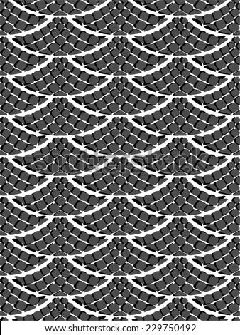 scales seamless vector pattren