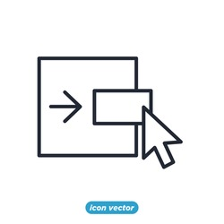 Scaling Arrow icon. Resize symbol template for graphic and web design collection logo vector illustration