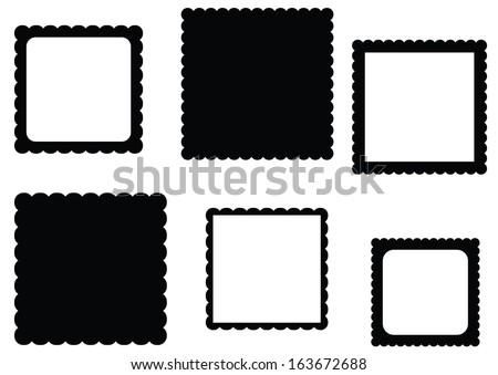 Scalloped Edge Square Frame Set