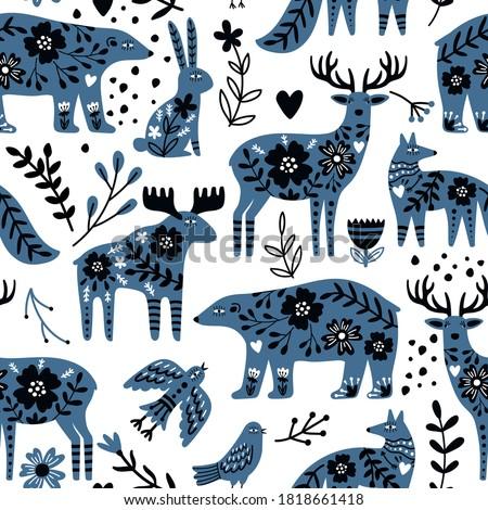 scandinavian animals seamless