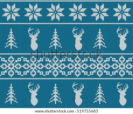 Christmas Snowflake Sweater Patterns Download Free Vector Art