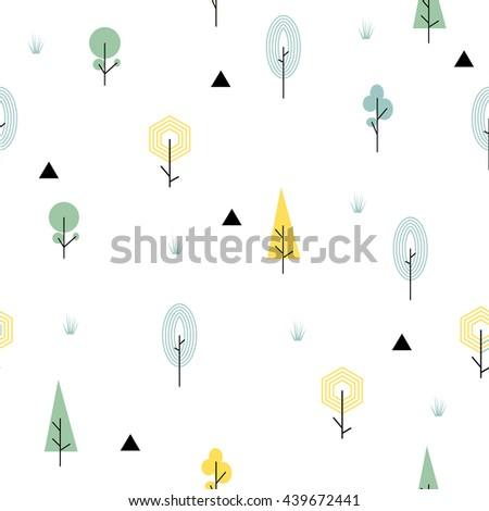 scandinavian forest seamless