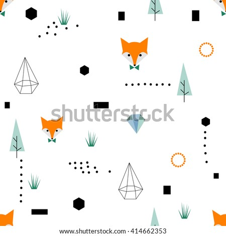 scandinavian geometric seamless