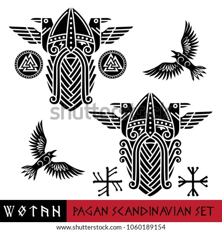 scandinavian pagan set   god