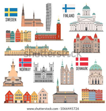 scandinavian set of landmark