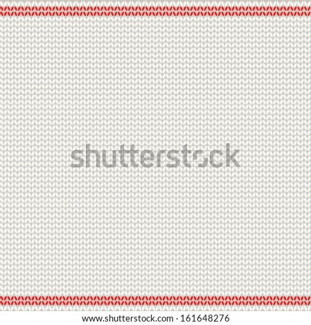 Scandinavian style knitted pattern. EPS 10 vector illustration. Vector knitted background.