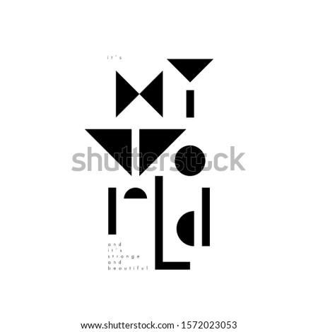 scandinavian style lettering my