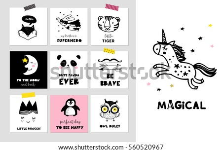 cute hand drawn style frames download free vector art stock
