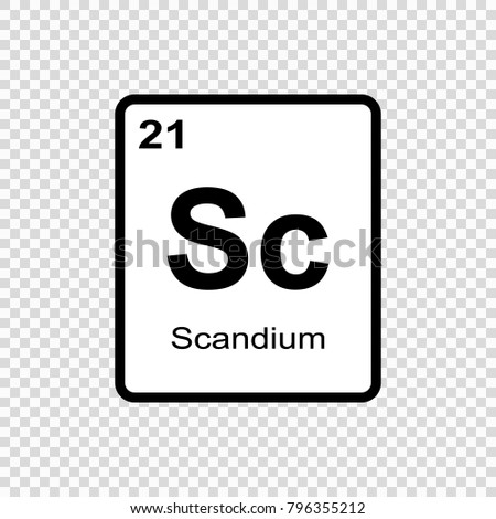 Shutterstock puzzlepix scandium chemical element sign with atomic number chemical element of periodic table urtaz Image collections