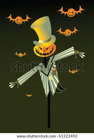 scarecrow and pumpkin background