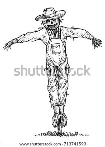 scarecrow illustration  drawing
