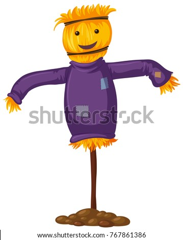 scarecrow with happy smile
