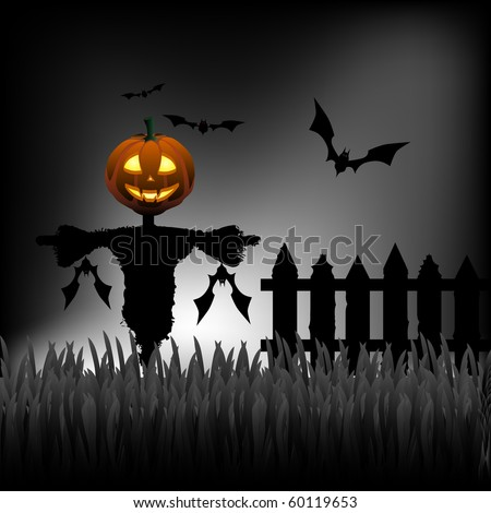 Хэллоуин открытка в фотошопе